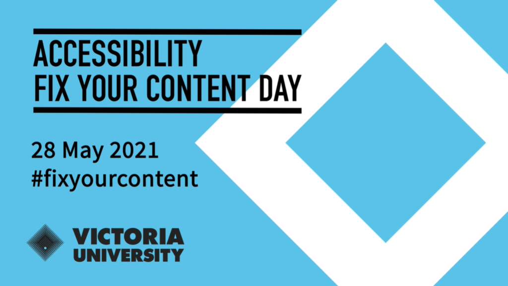 An image of VU fix your content day 2021
