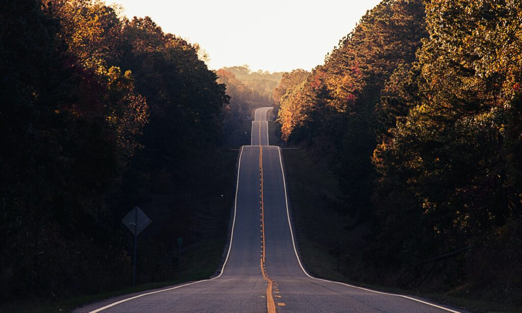 An image of a country road